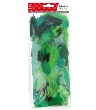 Plumes camaieu de vert 10g Artemio