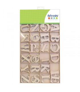 Alphabet Bois Majuscule 3cm 130pcs