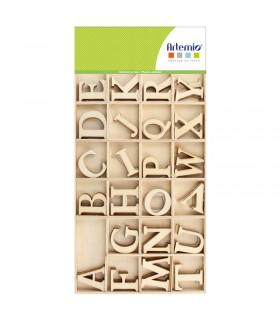 Alphabet en Bois Majuscule 6cm 130pcs