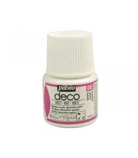 Peinture acrylique pébéo Déco 041 Blanc Mat