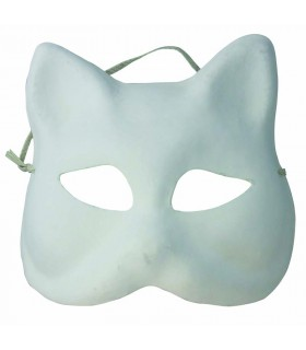 Masque Chat en plâtre Artémio