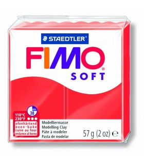 Pâte Fimo Soft Rouge Indien 24 57g