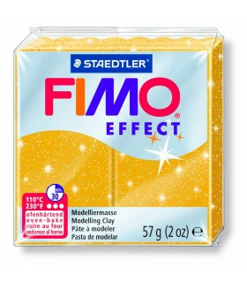 Pâte Fimo Effect Pailletée Or 112 57g