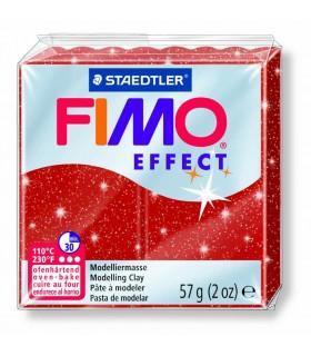 Pâte Fimo Effect Pailletée Rouge 202 57g