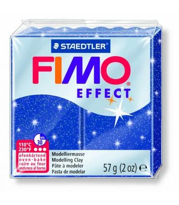 Pâte Fimo Effect Pailletée Bleu 302 57g