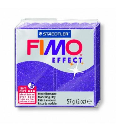 Pâte Fimo Effect Pailletée Lilas 602 57g