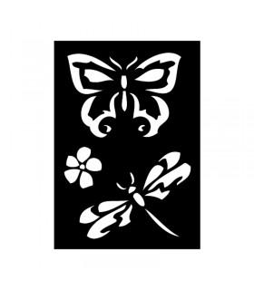 Pochoir Adhésif 7x10cm Papillon n°1