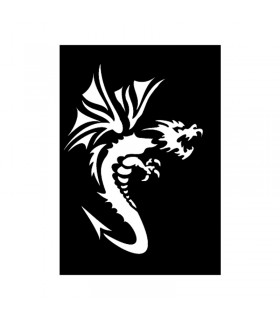 Pochoir Adhésif 7x10cm Dragon