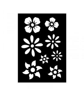 Pochoir Adhésif 7x10cm Fleurs