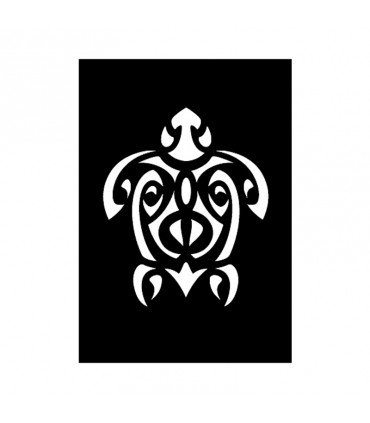 Pochoir Adhésif 7x10cm Tortue Maori