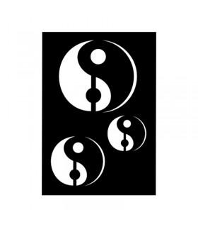 Pochoir Adhésif 7x10cm Yin & Yang