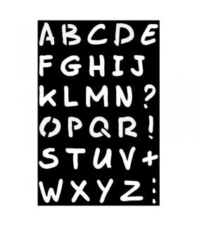 Pochoir Adhésif 12x18cm Alphabet