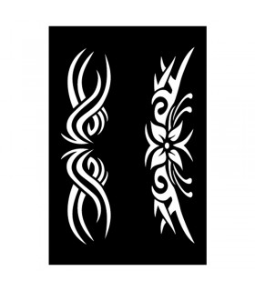 Pochoir Adhésif 12x18cm Tribal