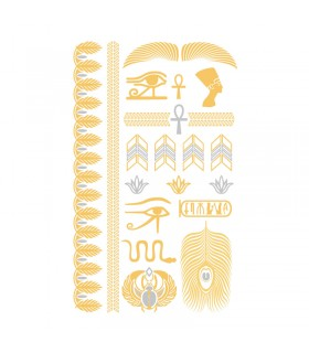 Tatouages temporaires Tattoo Chic Egypte Or/Argent