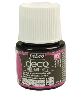Peinture acrylique pébéo Déco 055 Noir Mat