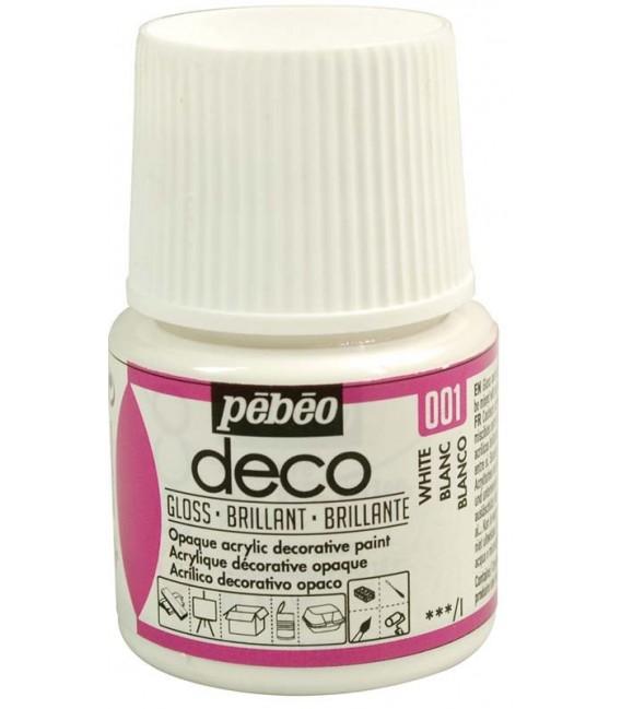 Peinture acrylique pébéo Déco 001 Blanc Brillant